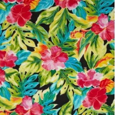 Splash Tropical Leaves Cotton Fabric by Robert Kaufman