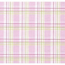 Zoey's Garden Faux Plaid Pink by Tanya Whelan