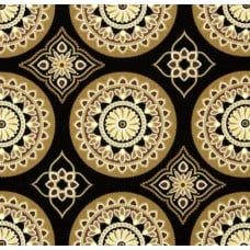 Sundial Black Indoor Outdoor Fabric