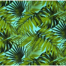 Tropical Fronds Indoor Outdoor Fabric Aruba