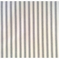 Ticking Down-Proof Stripe Cotton Fabric Black White