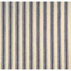 Ticking Down-Proof Stripe Cotton Fabric Navy and Cream