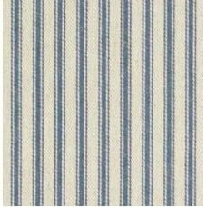 Ticking Stripe Cotton Fabric Denim Cream