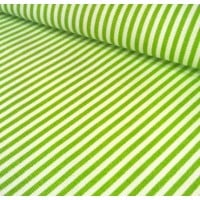 Ticking Thin Stripe Cotton Fabric Chartreuse White Ticking