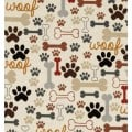 Dogs Bones & Paw Prints Cotton Fabric by Timeless Treasures