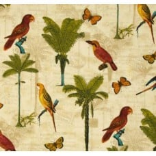 Hearts of Palm Toffee Outdoor Fabric by Tommy Bahama