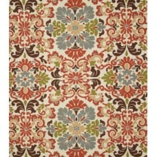 Folk Damask Terracotta Home Decor Linen
