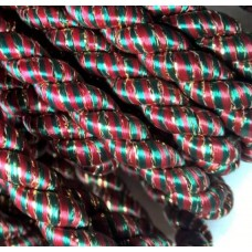 Cord Trim Red Green Gold 8mm