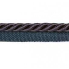 Twisted Cord Trim with Piping Lip Navy 6mm per 90cm