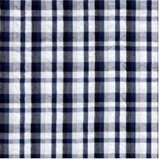 Seersucker Classic Cotton Fabric Plaid Black by Kaufman