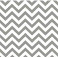 A Chevron Outdoor Fabric in Grey and White