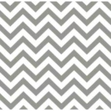 REMNANT - A Chevron Outdoor Fabric in Grey and White