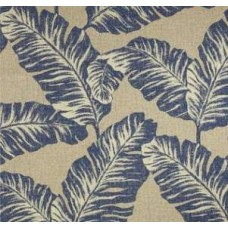 Chiquita Leaves in Blue, Beige & Tan Home Decor Cotton Fabric