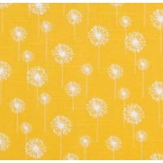 Dandelion in Yellow Slub Cotton Home Decor Fabric
