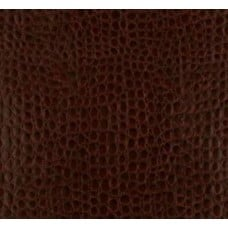 REMNANT - Faux Leather Abstract Brown Fabric