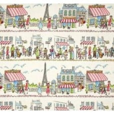 French Village in Multi Cotton Fabric by Michael Miller