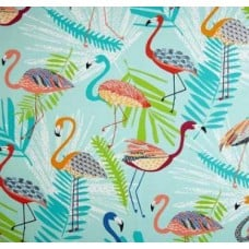 Go Flamingo Outdoor Fabric in Capri