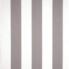 Grey & White Striped Outdoor Fabric