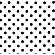 Jersey Knit Stretch Fabric Black Polka Dots on White
