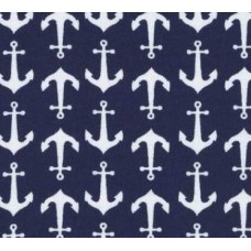 Jersey Knit Stretch Fabric in Navy Anchors by Riley Blake