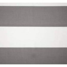 Jumbo Stripe Indoor Outdoor Fabric in Grey and White