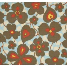 Lotus Morning Glory Linen Cotton Fabric by Amy Butler