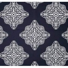 Medallions in Navy & White Cotton Home Decor Print Fabric