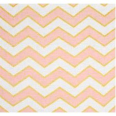Metallic Chic Chevron in Pearlized Confection By Michael Miller Cotton Fabric