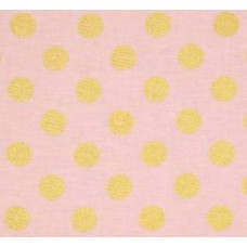 Metallic Glitter Dots Gold on Pink by Michael Miller Cotton Fabric