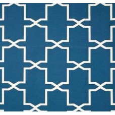 Mrs Emsworth Geomteric Outdoor Fabric in Blue