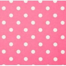 Polka Dot Home Decor Upholstery Cotton Fabric Baby Pink