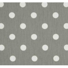 Polka Dot Home Decor Upholstery Fabric White on Grey