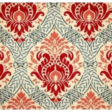Red Damask Florals Home Decor Upholstery Fabric