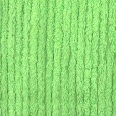 REMNANT - Thick Chenille Fabric in Lime Green