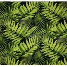 Tropical Fronds Indoor Outdoor Fabric Ebony