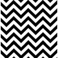 Chevron Zig Zag Indoor Outdoor Fabric Black and White