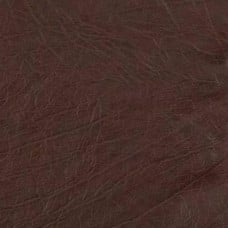 REMNANT - Faux Leather Buffalo Chocolate Vinyl Fabric 1