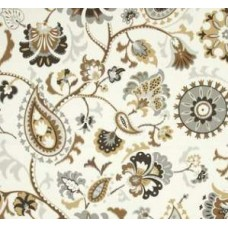 Siren Sun n Shade in Black and Tan Outdoor Fabric by Waverly