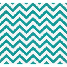 Chevron Zig Zag Home Decor Cotton Fabric Girly Blue