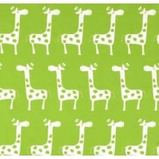 A Giraffe Families Green Home Decor Cotton Fabric