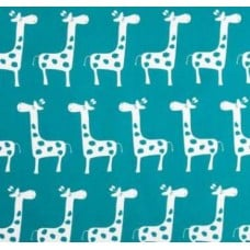 A Giraffe Families True Turquoise Home Decor Cotton Fabric