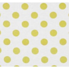 Metallic Glitter Gold Dots on White Cotton Fabric by Michael Miller
