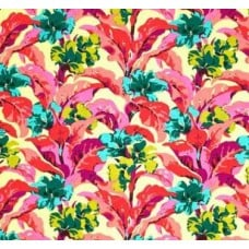 Bright Heart Canna in Peach Cotton Fabric by Amy Butler