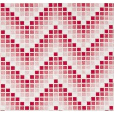 Chevron Mosaic Red Cotton Fabric
