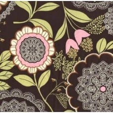 Lotus in Oilve Cotton Fabric by Amy Butler