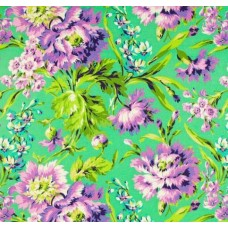 Love Bliss Bouquets Emerald Cotton Fabric by Amy Butler