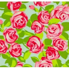 Love Tumble Roses Pink Cotton Fabric by Amy Butler