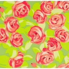 Love Tumble Roses Tangerine Cotton Fabric by Amy Butler