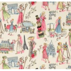 Springtimes in Old Paris Cotton Fabric by Michael Miller