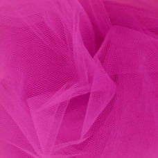 Brides and Ballet Nylon Tulle Fabric in Fuchsia Extra Wide at 274cm